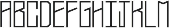 Narrow Bold otf (700) Font UPPERCASE