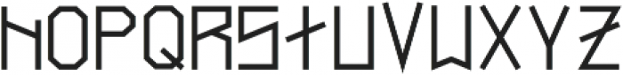 Narrow Bold otf (700) Font LOWERCASE