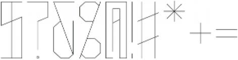 Narrow Light otf (300) Font OTHER CHARS
