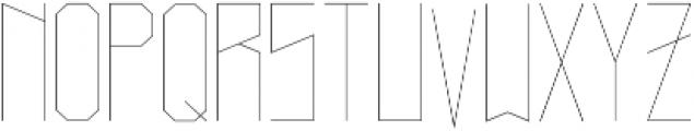Narrow Light otf (300) Font UPPERCASE