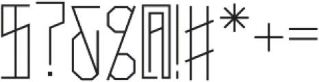 Narrow Regular Caps otf (400) Font OTHER CHARS