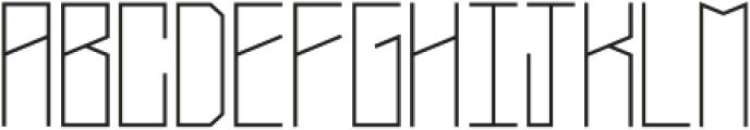 Narrow Regular otf (400) Font UPPERCASE
