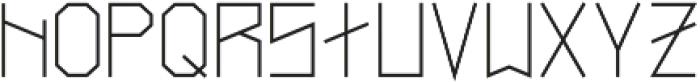 Narrow Regular otf (400) Font LOWERCASE