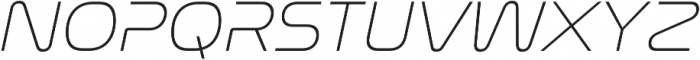 Nasalization ExtraLight Italic otf (200) Font UPPERCASE