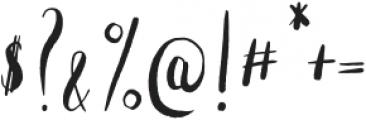 Nashi Regular otf (400) Font OTHER CHARS