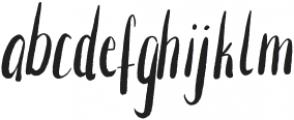 Nashi Regular otf (400) Font LOWERCASE