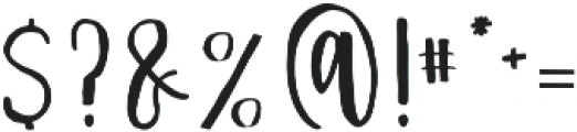 Nathain Font Duo Regular otf (400) Font OTHER CHARS