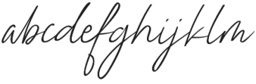 Nathallie otf (400) Font LOWERCASE