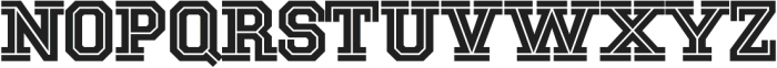 National Champion Cut otf (400) Font UPPERCASE