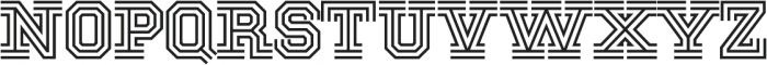 National Champion Tri Medium otf (500) Font UPPERCASE