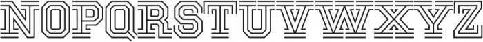 National Champion Tri otf (400) Font UPPERCASE