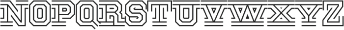 National Champion Tri otf (400) Font LOWERCASE
