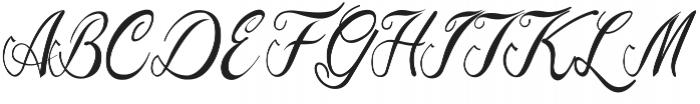 Natural Old Script Regular ttf (400) Font UPPERCASE