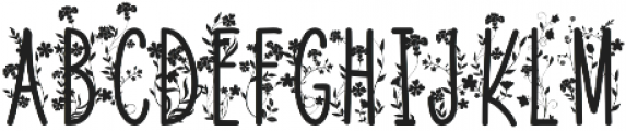 Naturia Floral otf (400) Font LOWERCASE