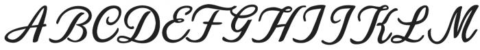 Navisha Script Regular otf (400) Font UPPERCASE