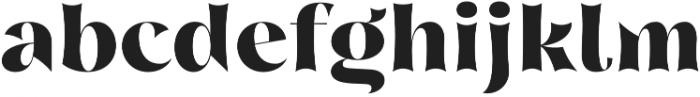 Nazare Exuberant Extra Bold otf (700) Font LOWERCASE