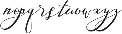 Nazeefa Script otf (400) Font LOWERCASE