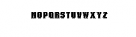 NARATAS BLOCK2.ttf Font LOWERCASE