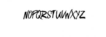 Nameless typeface Font UPPERCASE