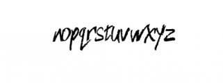 Nameless typeface Font LOWERCASE