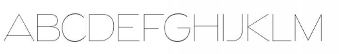 Naked Power Ultra Light Font UPPERCASE