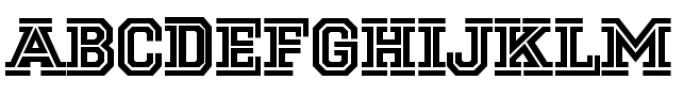 National Champion Cut Medium Font UPPERCASE