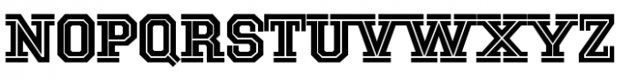 National Champion Cut Regular Font UPPERCASE