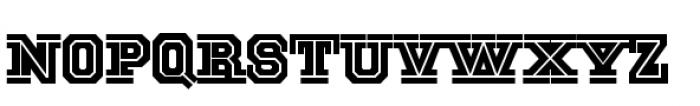 National Champion Cut Regular Font LOWERCASE
