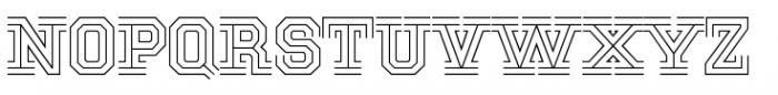 National Champion Tri Light Font UPPERCASE