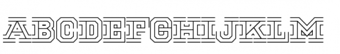 National Champion Tri Light Font LOWERCASE