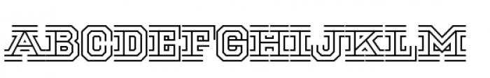 National Champion Tri Regular Font LOWERCASE