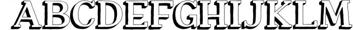 Nafisyah Slab Display Font Collection 2 Font UPPERCASE