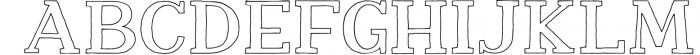 Nafisyah Slab Display Font Collection 7 Font UPPERCASE