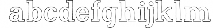 Nafisyah Slab Display Font Collection 7 Font LOWERCASE