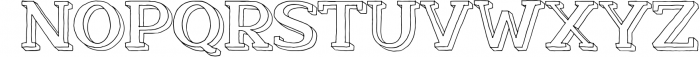 Nafisyah Slab Display Font Collection 8 Font UPPERCASE