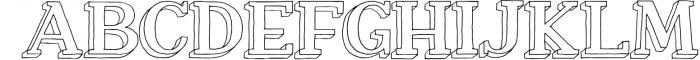 Nafisyah Slab Display Font Collection Font UPPERCASE
