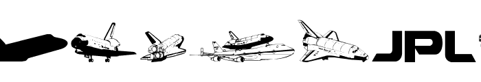 NASA Dings Font UPPERCASE