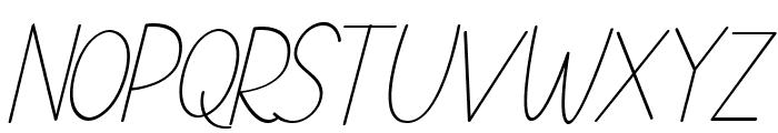 NATURE green Italic Font LOWERCASE