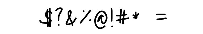 Nadezna's Handwritting Font OTHER CHARS