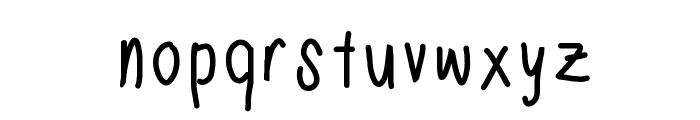 Nadezna's Handwritting Font LOWERCASE