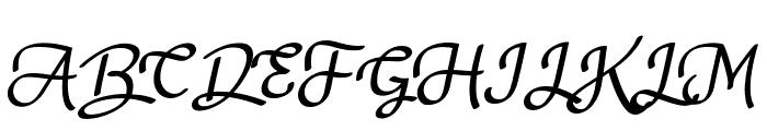 Nagitta Personal Use Font UPPERCASE