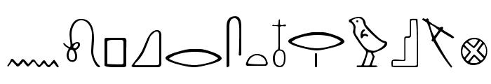 Nahkt Font UPPERCASE