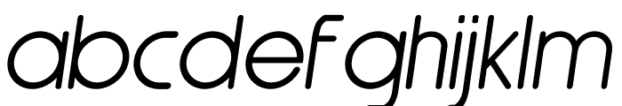 Nairi Amber Sanserif Italic Font LOWERCASE