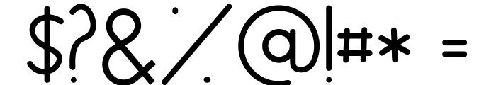 Nairi Amber Sanserif Font OTHER CHARS