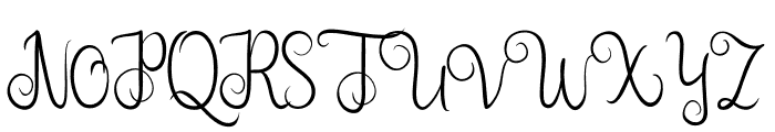 Nairi Amber Font UPPERCASE