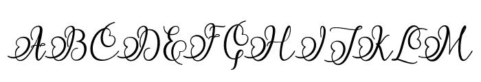 Namilla Font UPPERCASE