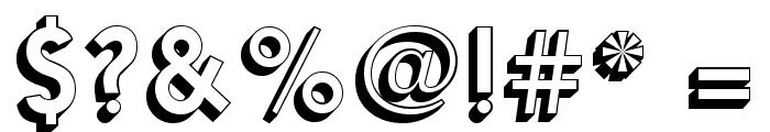 Nanami-3D-Med Font OTHER CHARS