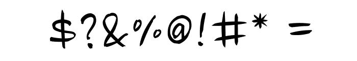 Nanum Brush Script OTF Font OTHER CHARS