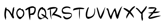 Nanum Brush Script OTF Font UPPERCASE
