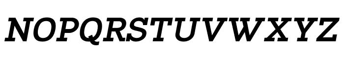 Napo ExtraBold Italic Font UPPERCASE
